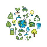 Ecology conservation to natural environment protection. Vector illustration Stock Image