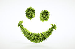 Ecology 3d render smile face sign. With included clipping path in jpg file Royalty Free Stock Image