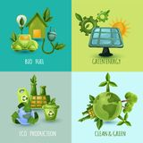 Ecology Design Concept Set Stock Images