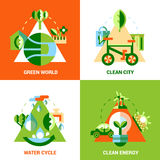 Ecology Design Concept Set Stock Image