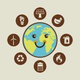Ecology design. Ecology graphic design , vector illustration Stock Image