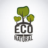 Ecology design. Over background, vector illustration Royalty Free Stock Photos