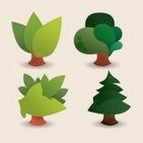 Ecology design. Over beige background, vector illustration Royalty Free Stock Image