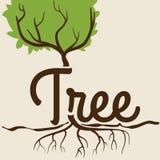 Ecology design. Over beige background, vector illustration Royalty Free Stock Photo