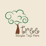 Ecology design. Over beige background, vector illustration Royalty Free Stock Photos