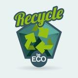 Ecology design. Over blue background, vector illustration Stock Photo