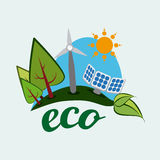 Ecology design. Over blue background, vector illustration Royalty Free Stock Photography