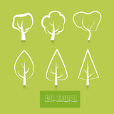 Ecology design. Over green background, vector illustration Stock Image