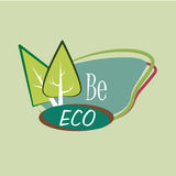 Ecology design. Over green background, vector illustration Royalty Free Stock Image