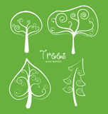 Ecology design. Over green background, vector illustration Stock Photography
