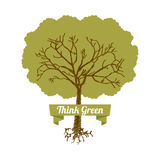 Ecology design. Over white background, vector illustration Royalty Free Stock Images