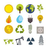 Ecology design. Over white background, vector illustration Royalty Free Stock Photos