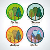 Ecology design. Over white background, vector illustration Royalty Free Stock Photography