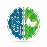 Ecology design, vector illustration. Royalty Free Stock Images