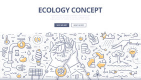Ecology Doodle Concept Stock Photo