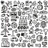 Ecology - doodles set Royalty Free Stock Image