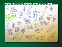 Ecology Drawings Royalty Free Stock Photos