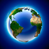 Ecology Earth. The metaphor of ecology and purity of the planet Earth Stock Photos