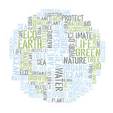 Ecology Earth concept word collage Stock Photos