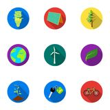 The ecology of the earth, the problems of ecology, ways to combat the ravages.Bio and Ecology icon in set collection on Royalty Free Stock Images