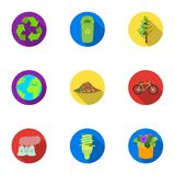 The ecology of the earth, the problems of ecology, ways to combat the ravages.Bio and Ecology icon in set collection on Stock Photo