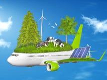 Ecology, eco flying collage Stock Photo