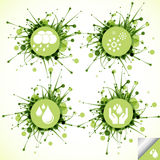Ecology eco icon button set Royalty Free Stock Image