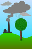 Ecology. Ecological problem because of pollution of the planet royalty free illustration