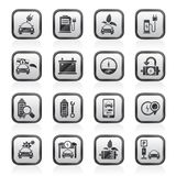 Ecology and Electric Car icons Stock Photography