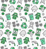 Ecology elements seamless icons pattern Royalty Free Stock Images