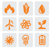 Ecology energy icon Royalty Free Stock Photo