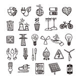 Ecology And Energy Icon Set Royalty Free Stock Photography