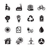 Ecology energy icon set, vector eps10 Royalty Free Stock Photos