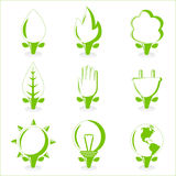 Ecology and energy symbol Stock Photography