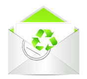 Ecology envelope with symbol of recycling Stock Image