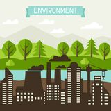 Ecology and environment concept illustration. Stock Photos