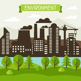 Ecology and environment concept illustration. Royalty Free Stock Photos