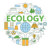 Ecology and environment concept illustration. Royalty Free Stock Images