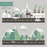 Ecology environment concept. Minimal ecology environment concept vector Stock Image