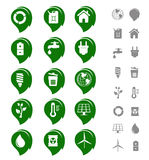 Ecology and environment icon set Stock Images