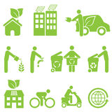 Ecology and Environment Icon Set Stock Image