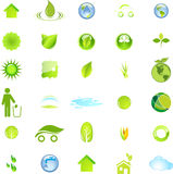 Ecology and Environment Icon Set In Vector Royalty Free Stock Photography