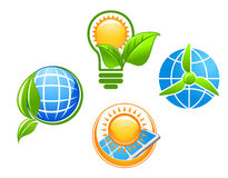 Ecology and environment icons Royalty Free Stock Photo