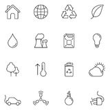 Ecology and Environment Icons Stock Photography