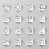 Ecology and Environment Icons Royalty Free Stock Photography