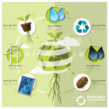 Ecology And Environment Infographic Element Royalty Free Stock Images