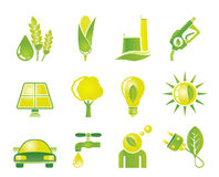 Ecology, environment and nature icons Stock Image