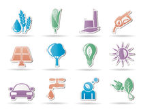 Ecology, environment and nature icons Royalty Free Stock Image