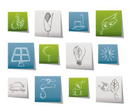 Ecology, environment and nature icons Stock Photos