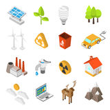 Ecology And Environment Protection Icon Set Royalty Free Stock Photo